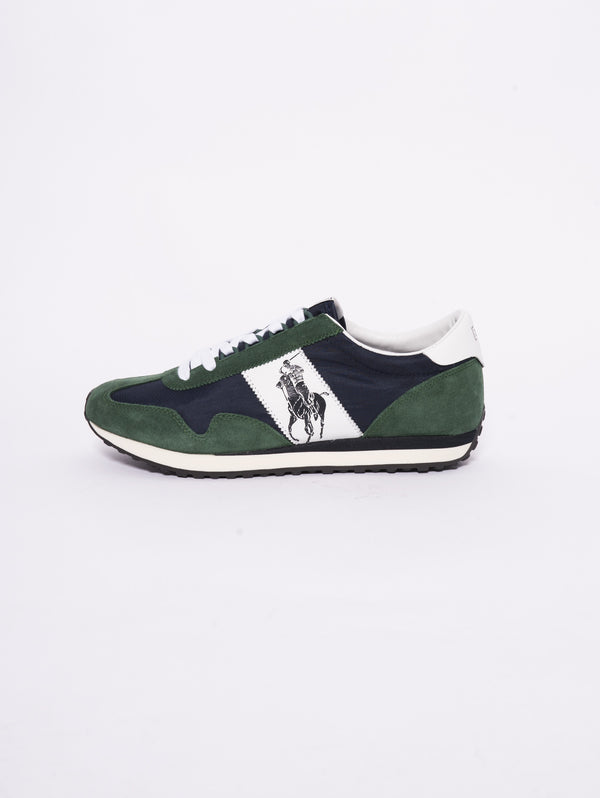 RALPH LAUREN-Sneaker Train Verde / Blu-TRYME Shop
