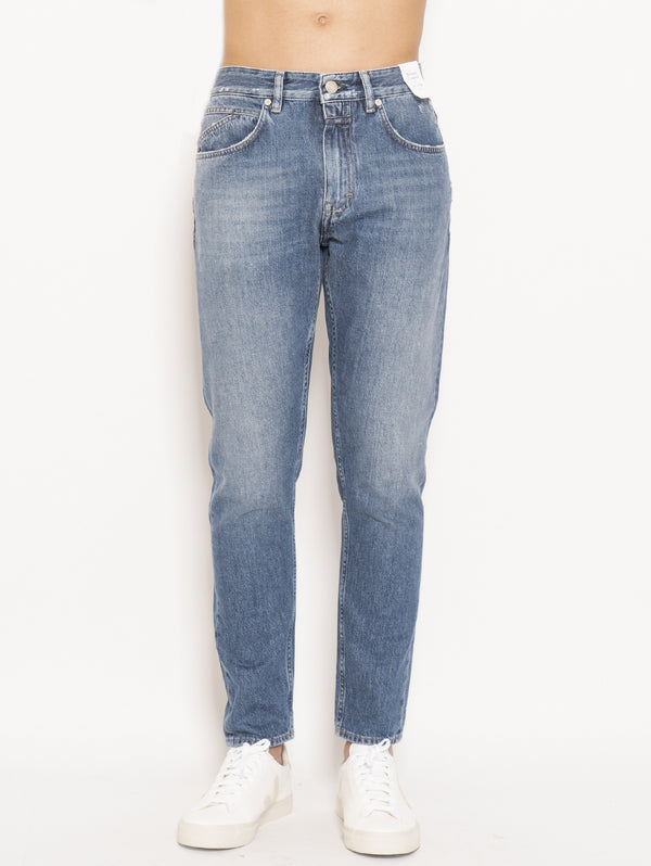 CLOSED-Jeans Cooper Tapered Relaxed Cropped Blu-TRYME Shop