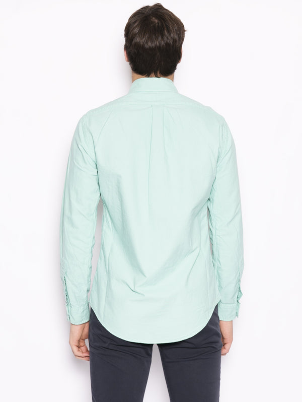Camicia Oxford Slim-Fit Verde acqua-Camicie-RALPH LAUREN-TRYME Shop