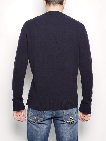 WOOLRICH U.S.A CREW NECK Blu Trymeshop.it