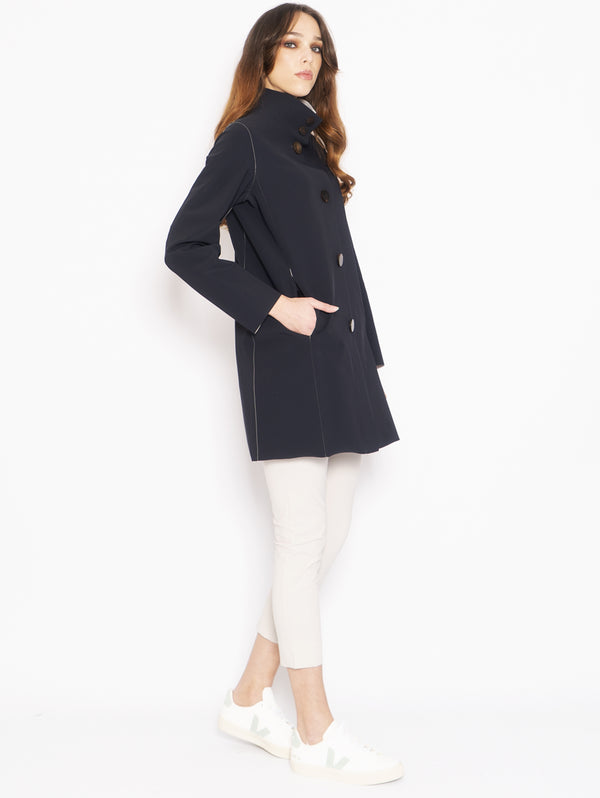 Cappotto in Lycra Light Blu