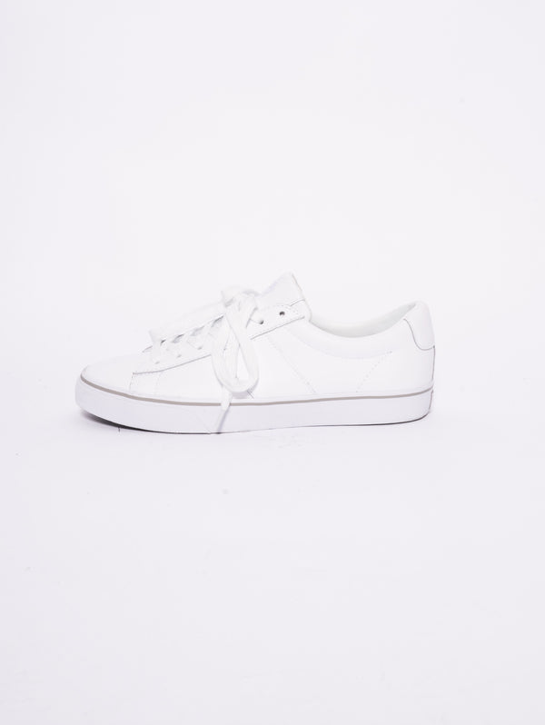 RALPH LAUREN-Sneaker Sayer basse in vitello Bianco-TRYME Shop