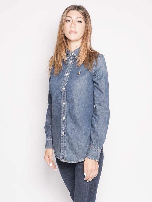 Camicia in Denim Blu