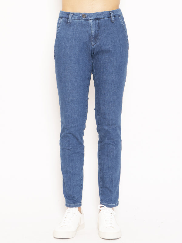 ROY ROGERS-Jeans New Rolf Denim Soft Stretch Mid Blu-TRYME Shop