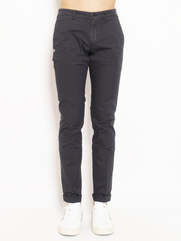40 WEFT-Chino in Cotone Blu-TRYME Shop