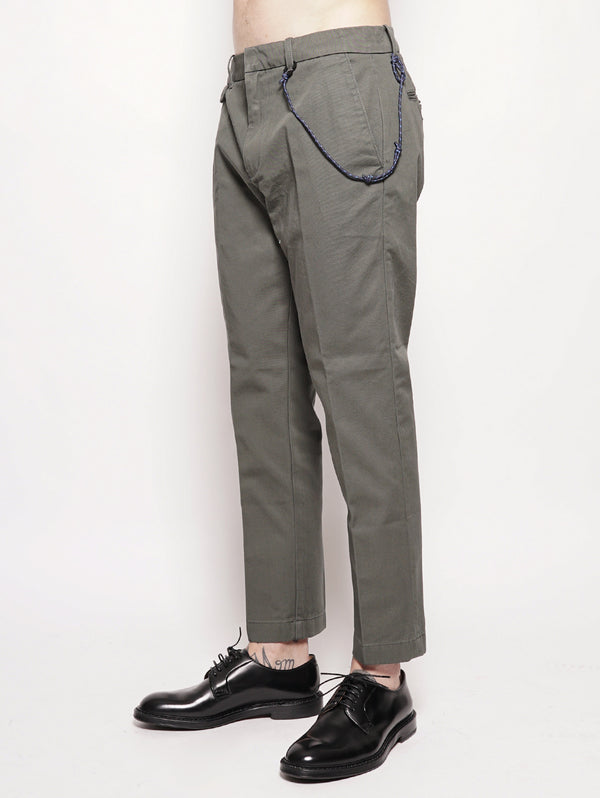 Atelier Cropped Japanese Chino Verde-Pantaloni-CLOSED-TRYME Shop