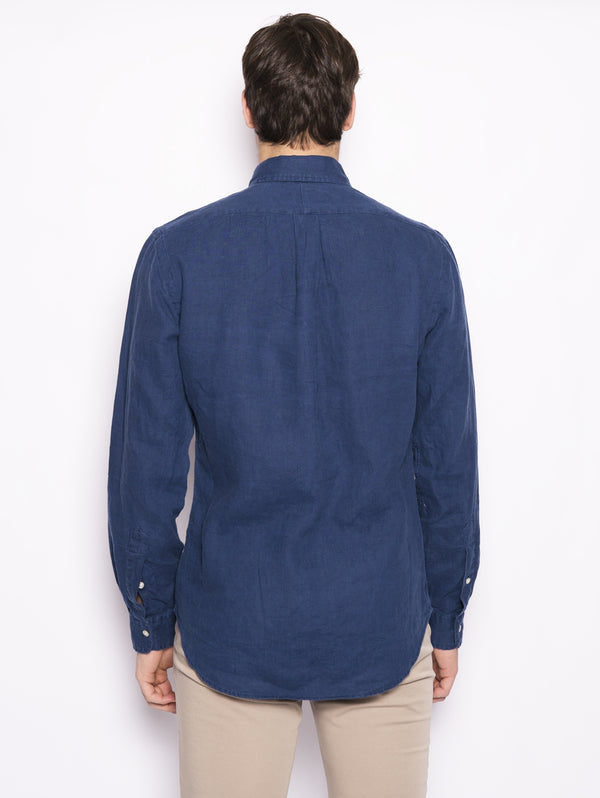 Camicia in lino Slim Fit Blu-Camicie-RALPH LAUREN-TRYME Shop