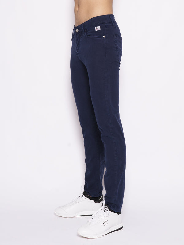 Jeans Cut Man Drill Stretch Blu