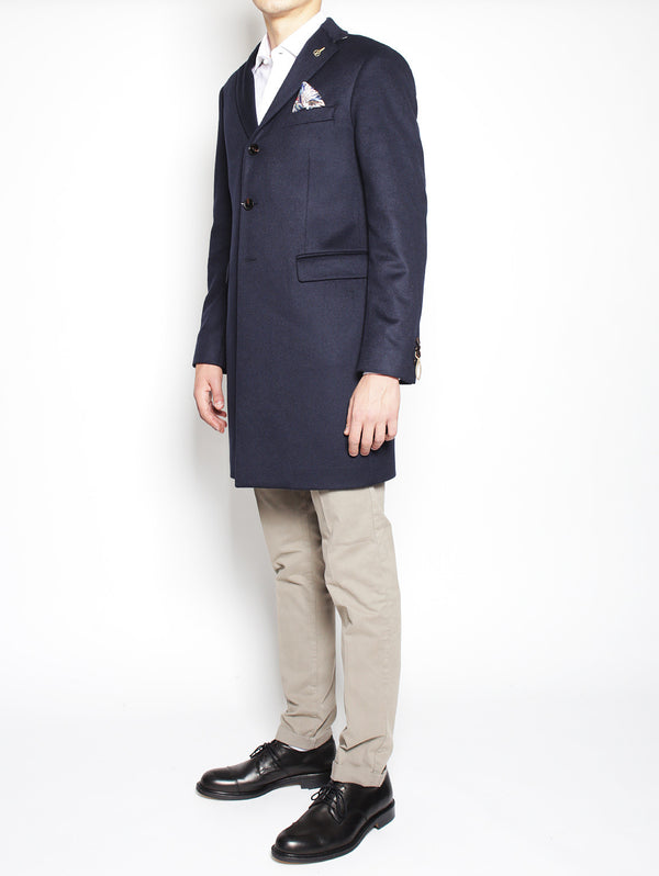 Cappotto in Cashmere 2111C207 161640 NAVY-Cappotto-Paoloni-TRYME Shop