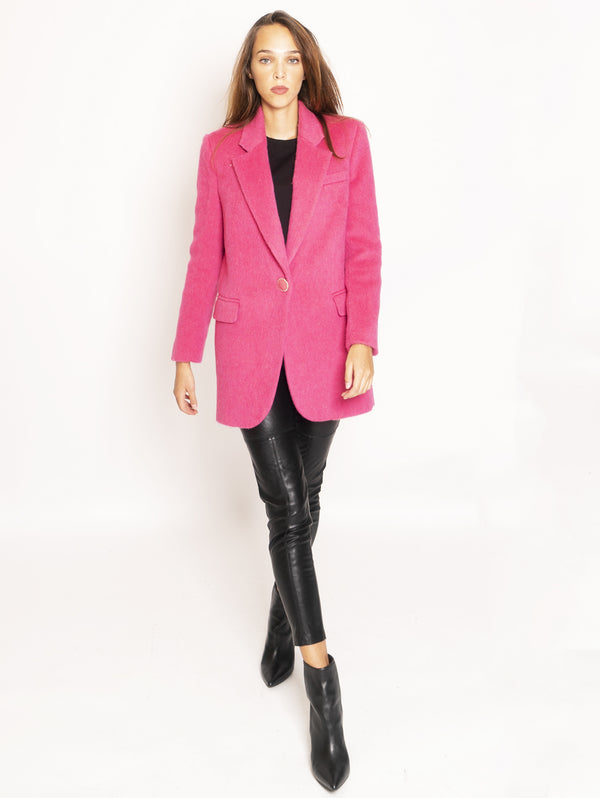 Giacca in Panno Mohair - Fuchsia