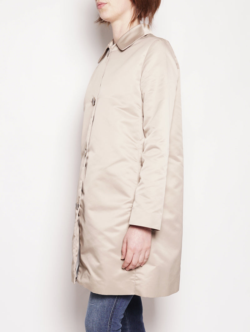 Cappotto in duchesse - JAW664 Beige-Jacket-Add-TRYME Shop