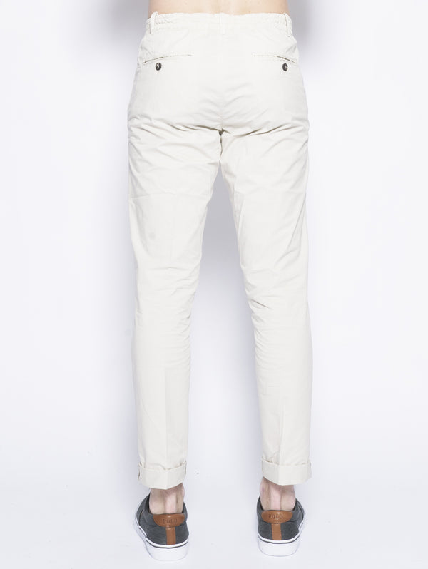 Chino con coulisse Beige-Pantaloni-40 WEFT-TRYME Shop