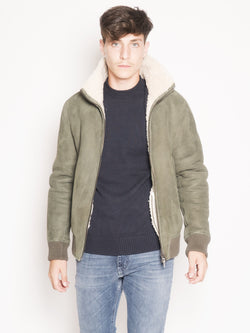 CLOSED-Giacca in Shearling Verde-TRYME Shop