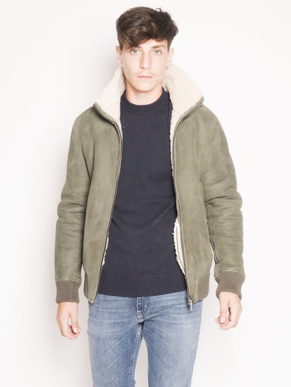 Shearling Aviator Jacket  Verde