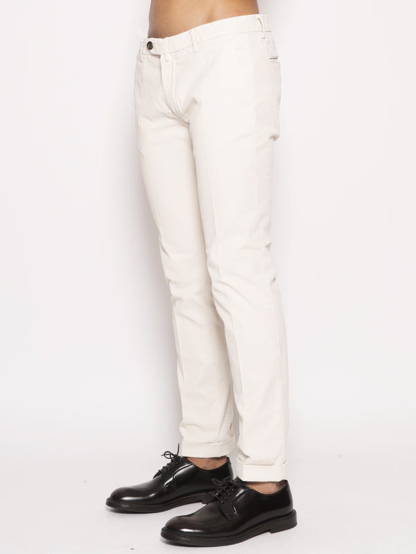 Chino in cavalry twill  Bianco