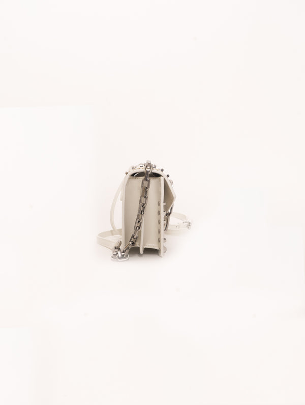 Borsa Mini Love Bag Mix Studs Bianco