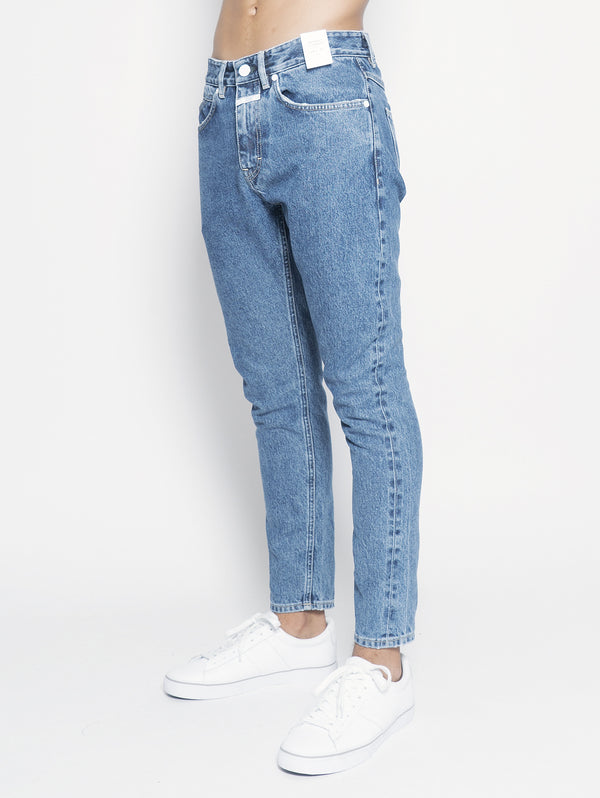 Jeans Cooper Tapered Relaxed Cropped Blu
