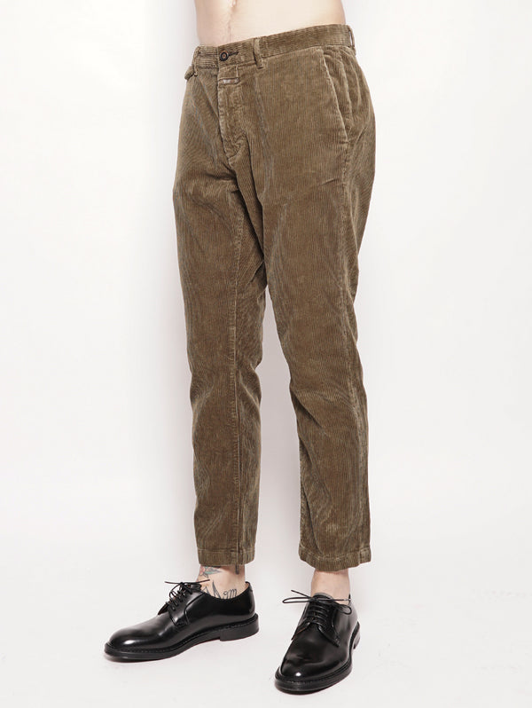 Atelier Cropped Pants Verde-Pantaloni-CLOSED-TRYME Shop