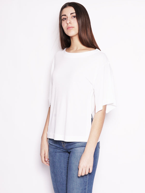Blusa in viscosa Bianco-Blusa-Alpha Studio-TRYME Shop