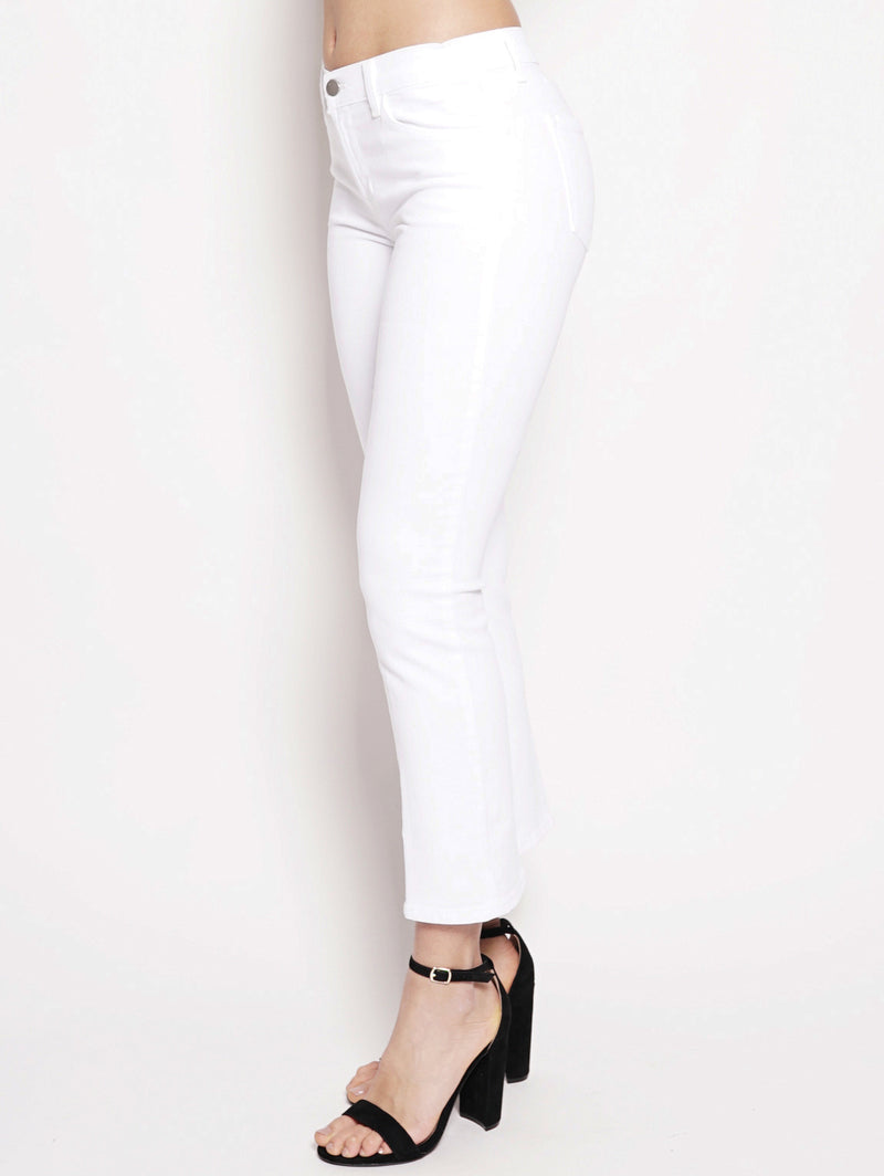 SELENA MID-RISE SKINNY CROP BOOTCUT Bianco-Jeans-J BRAND-TRYME Shop