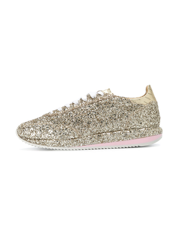 SNEAKERS IN PELLE 45MM Glitter Oro-Scarpe-GHOUD-TRYME Shop