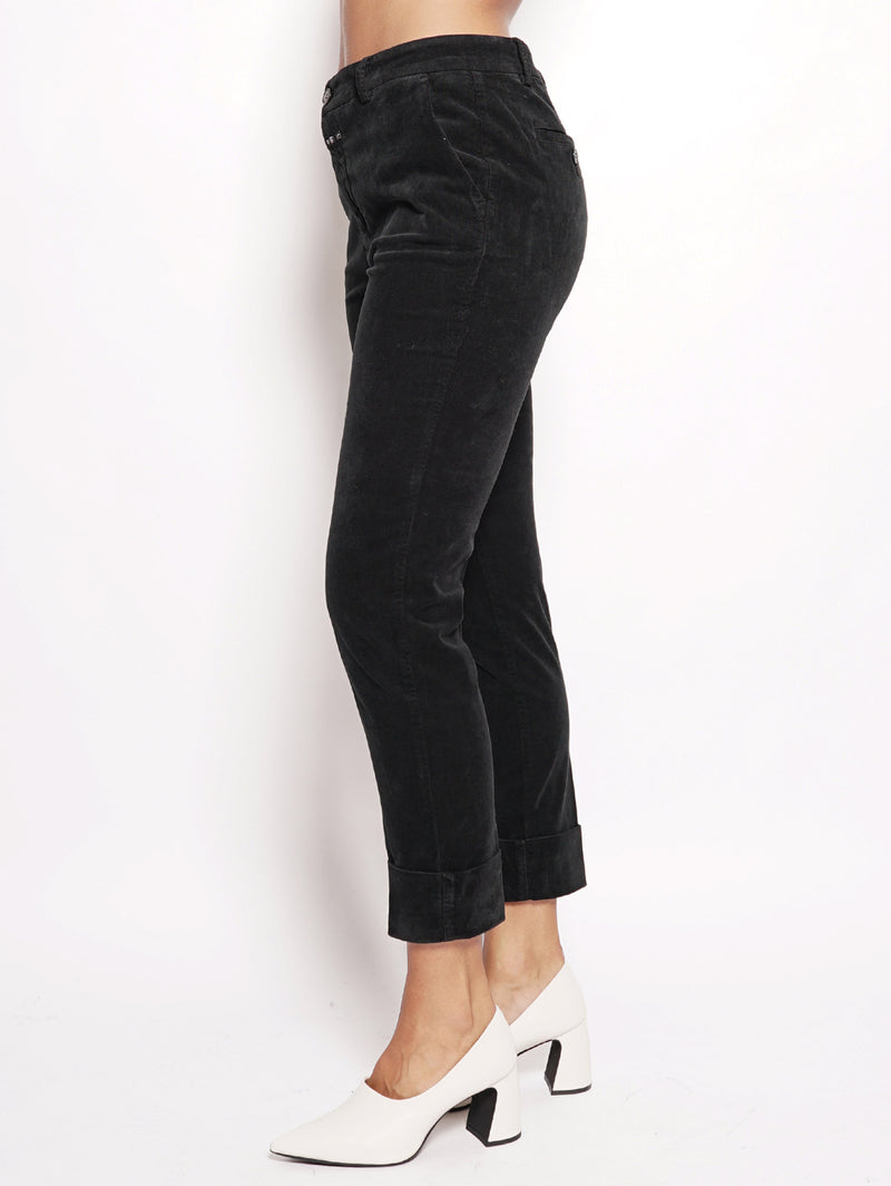 Stewart - Pantalone in velluto Nero-Pantaloni-CLOSED-TRYME Shop