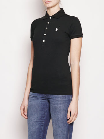 RALPH LAUREN Polo Stretch Slim-Fit Nero Trymeshop.it