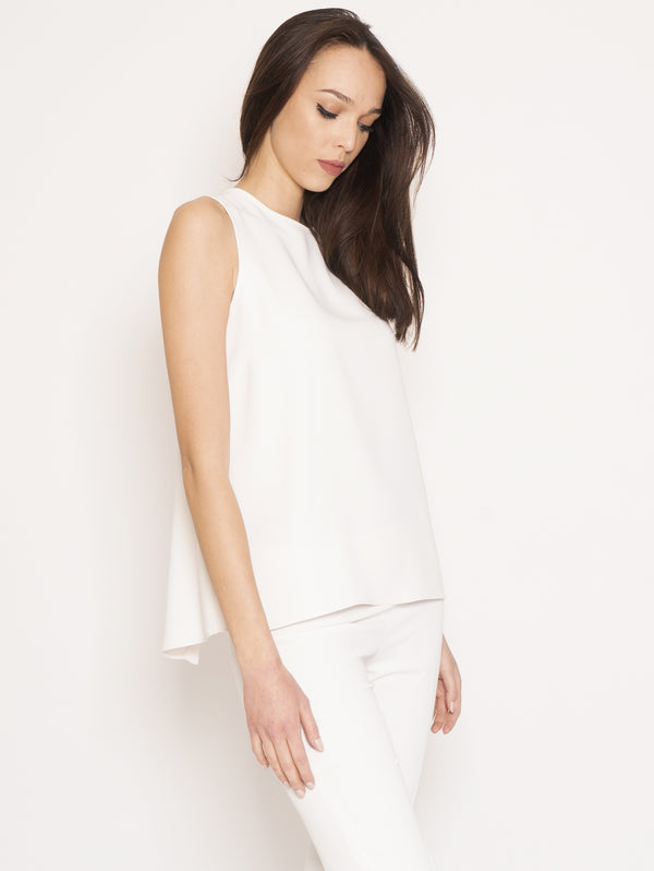 P.A.R.O.S.H.-Blusa con Spacco Panters Bianco-TRYME Shop