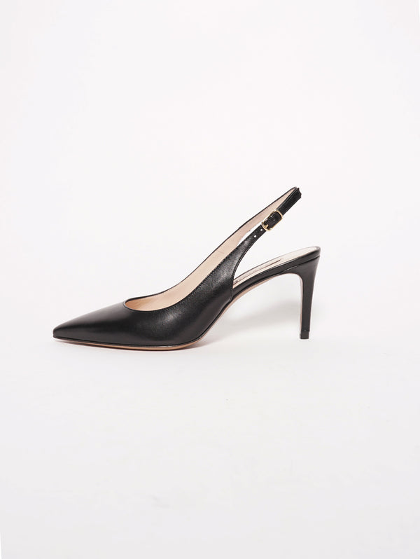 CHIARINI BOLOGNA-Chanel in pelle - 870 Nero-TRYME Shop