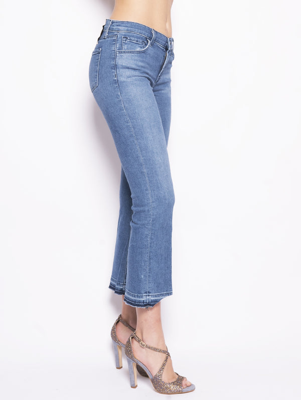Selena Mid Rise Crop Boot Sustainable Denim Denim-Jeans-J BRAND-TRYME Shop