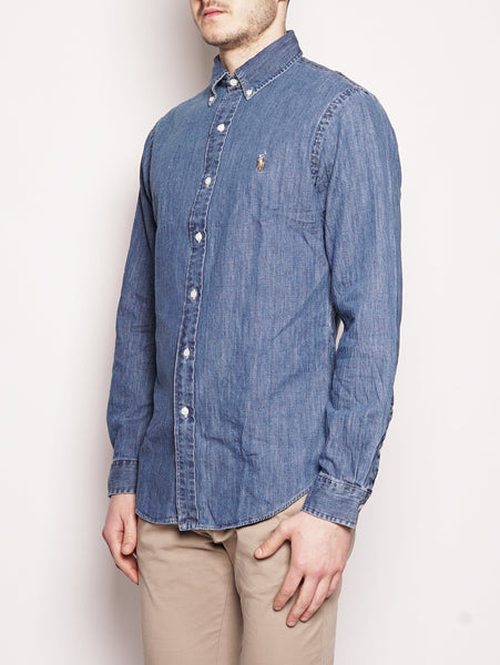 Camicia sportiva in denim Slim-Fit Denim