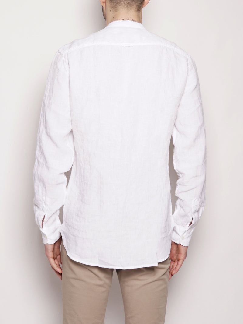 LINEN KOREAN SHIRT Bianco-Camicie-WOOLRICH-TRYME Shop