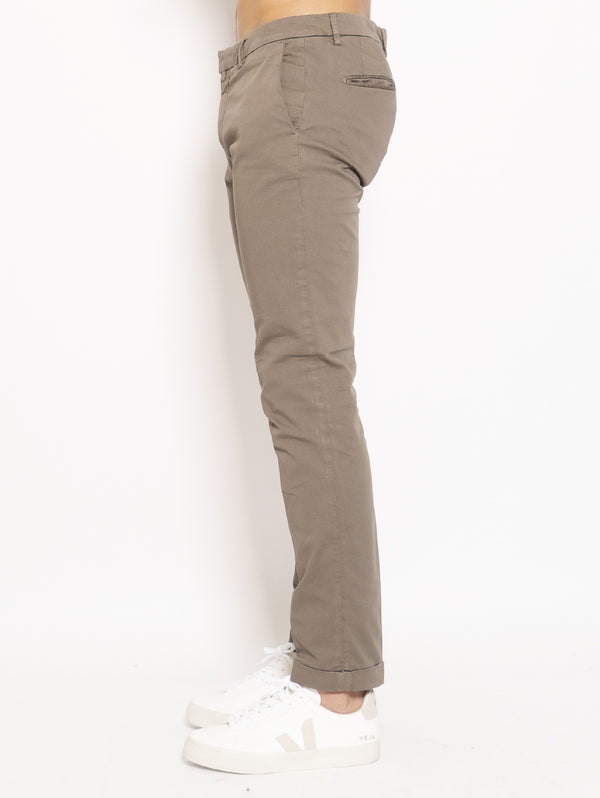 Brown Cotton Chino