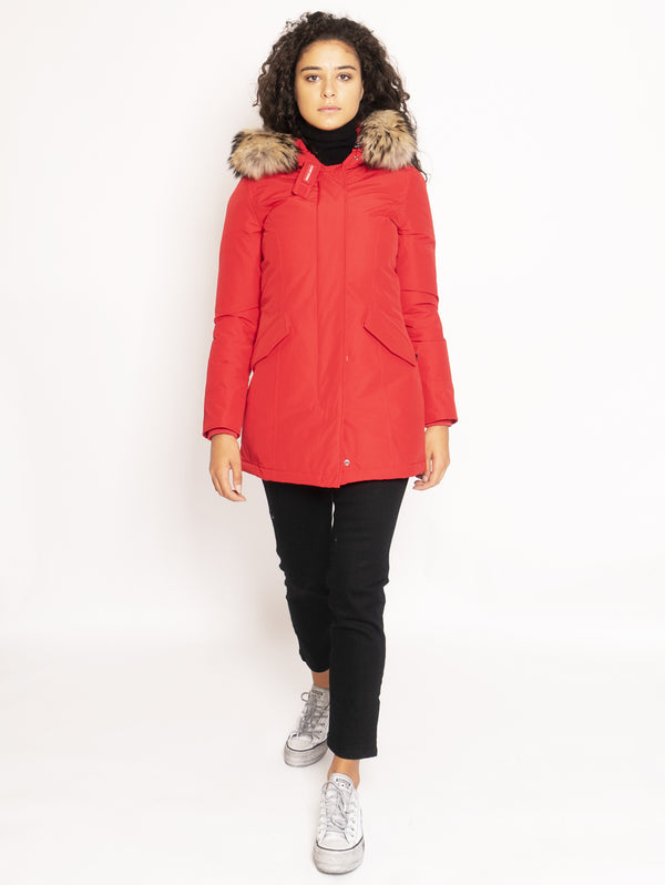 WOOLRICH-Giaccone Parka in Ramar - Rosso-TRYME Shop
