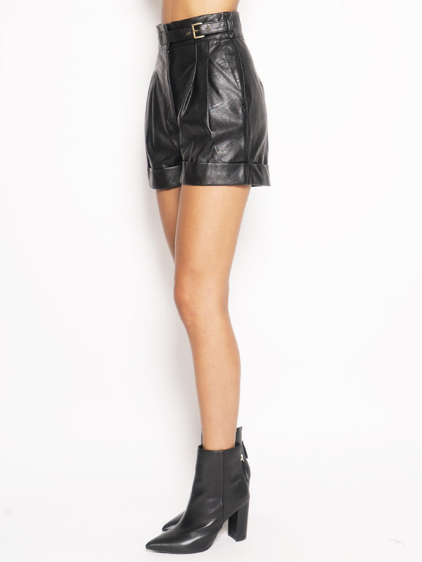 Shorts in similpelle - 192TT203A Nero