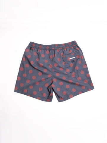 BOXER POIS Blue Navy/Burgundy