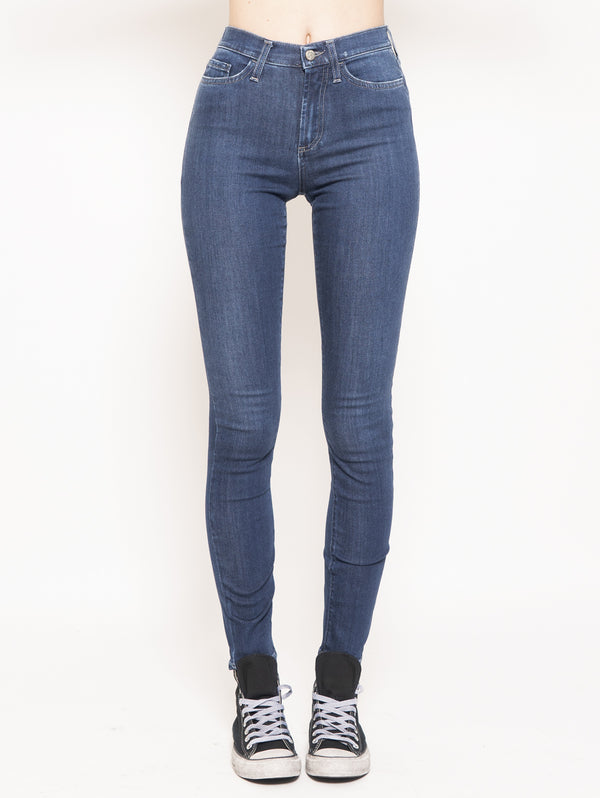 ROY ROGERS-Pantalone in Denim Jeans High Cate Super Stretch Beren Blu-TRYME Shop
