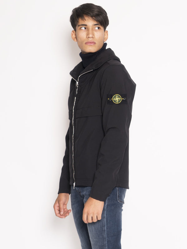 Pilot Jacket in Soft Shell-R Q0122  Nero
