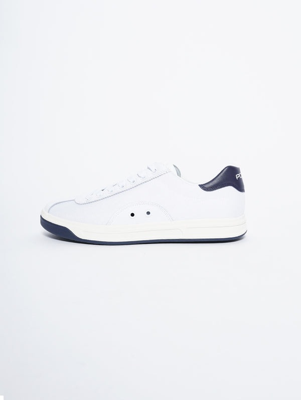 RALPH LAUREN-Sneaker Court 100 in pelle e rete Bianco-TRYME Shop