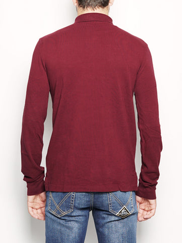 Polo invecchiata in piqué Slim-Fit Bordeaux RALPH LAUREN TRYMEShop