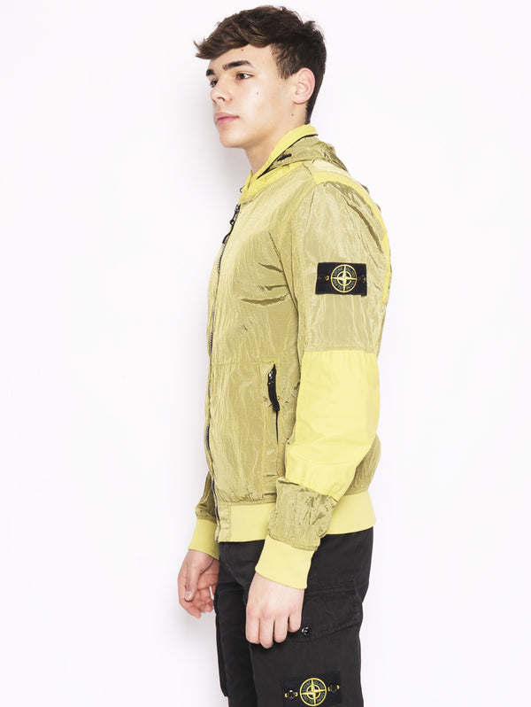 42932 Yellow Nylon Metal Jacket