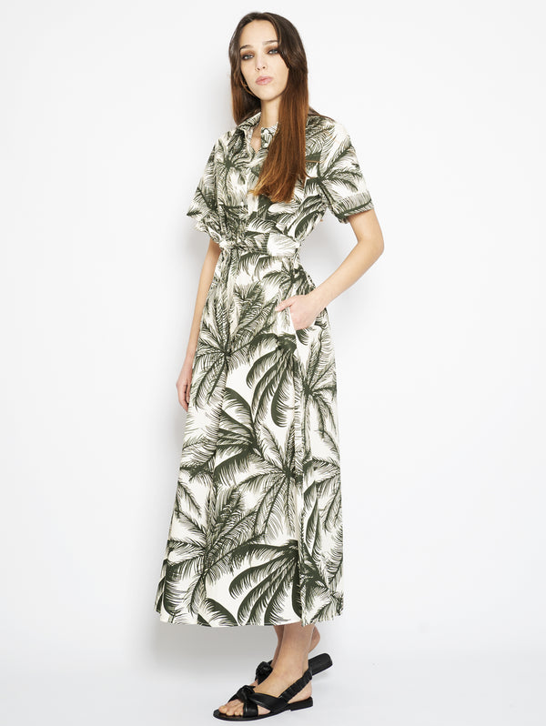 Green Jungle Print Dress