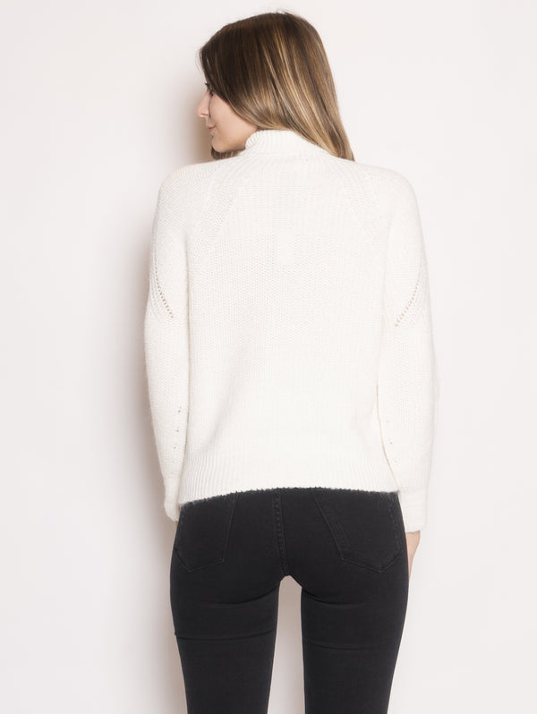 Pullover a Costa Inglese Mega Mix Bianco