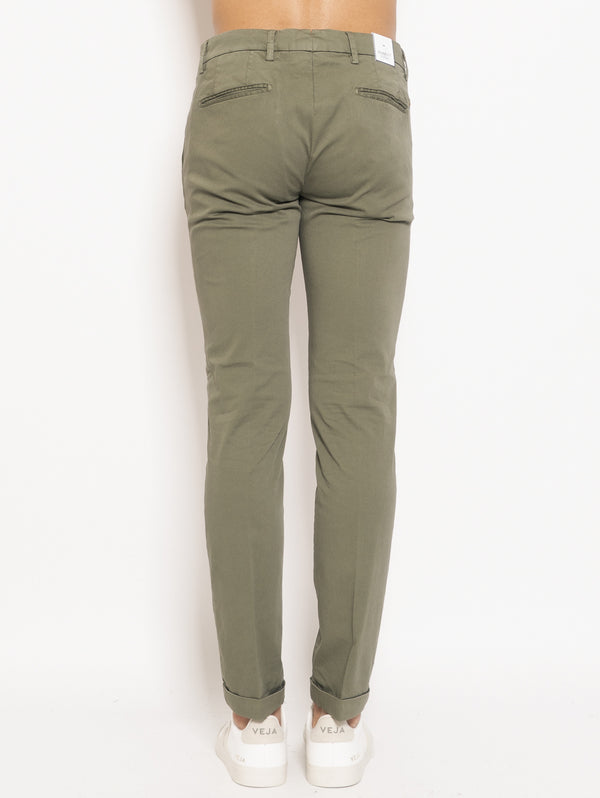 Green Cotton Chino