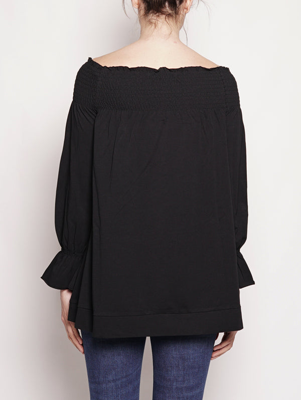 Top con ampia scollatura Nero-Top-Alpha Studio-TRYME Shop