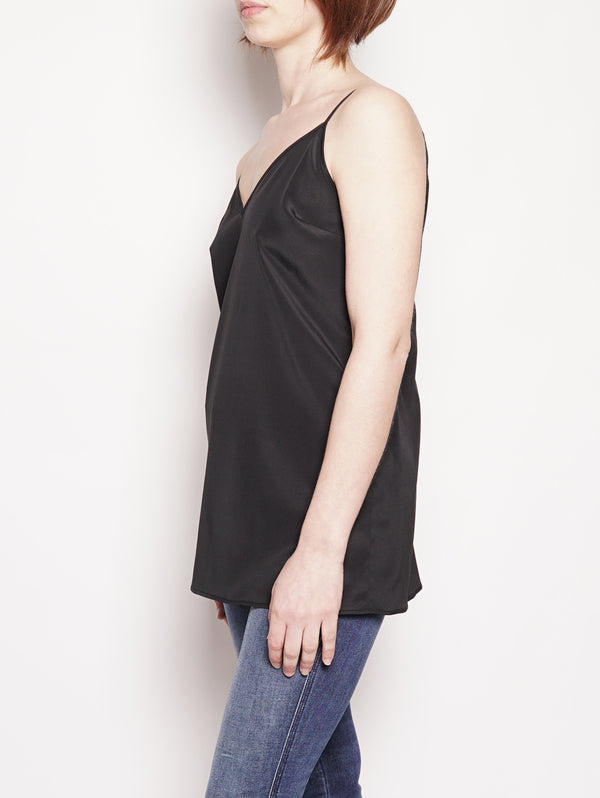 Top in seta Nero-Top-FEDERICA TOSI-TRYME Shop