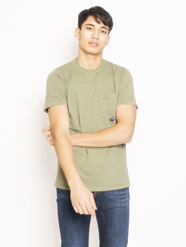 ROY ROGERS-T-shirt con Taschino Verde-TRYME Shop