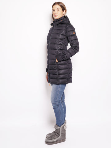 SAVE THE DUCK D4206W SOLD7 - Cappotto lungo trapuntato Blu Trymeshop.it