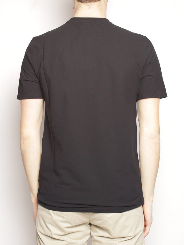T-shirt girocollo - AU5400C Nero-T-shirt-Alpha studio-TRYME Shop