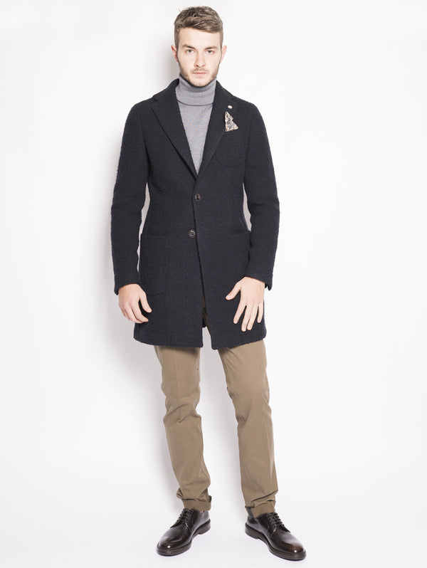 MANUEL RITZ-Cappotto in casentino Blu-TRYME Shop